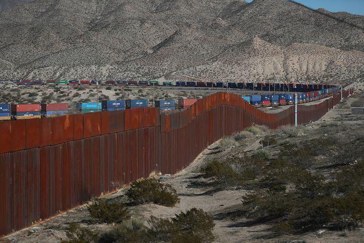 A part of the U.S. border barrier between El Paso and Ciudad Juárez, Mexico.