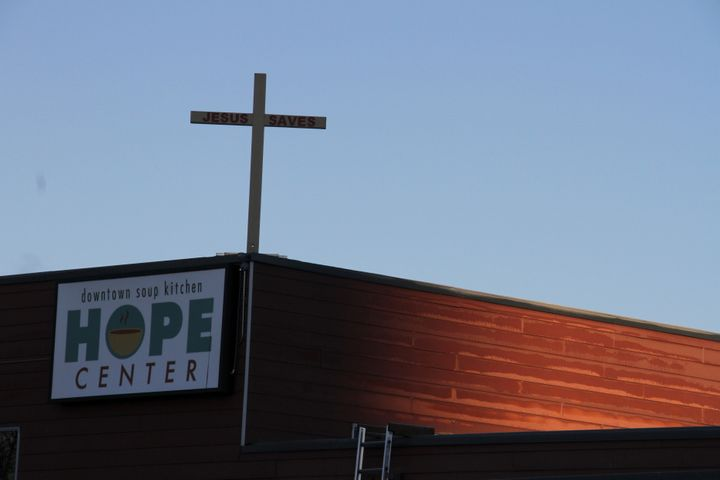 This file photo from November shows the Hope Center women's shelter in downtown Anchorage.