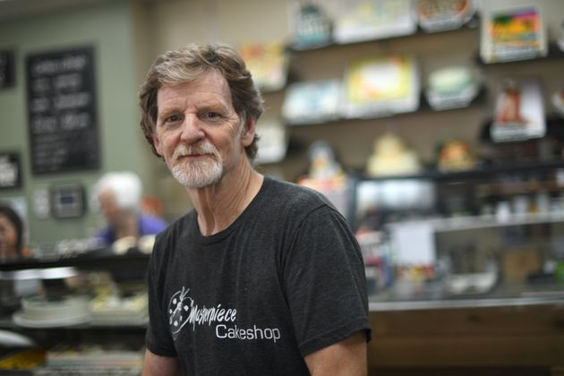 Jack Phillips, owner of Masterpiece Cakeshop, poses for a photo in his shop in Lakewood, Colorado, on...