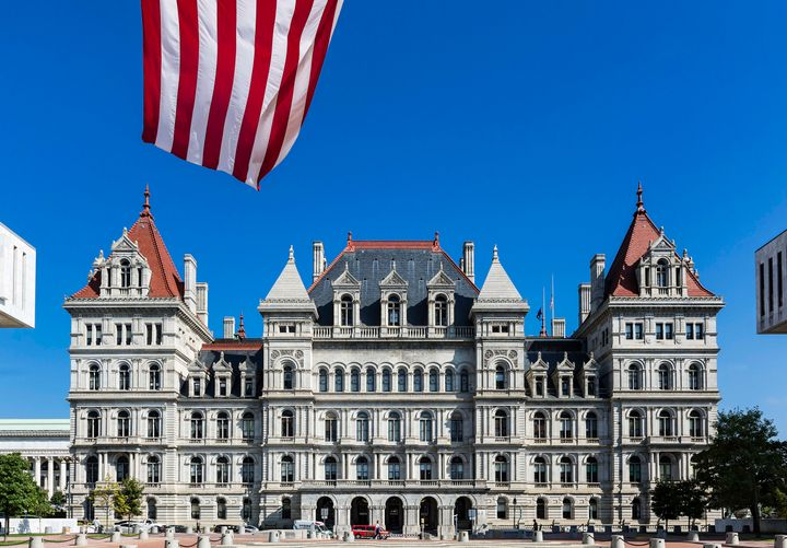 The New York State Capitol building in Albany, New York.