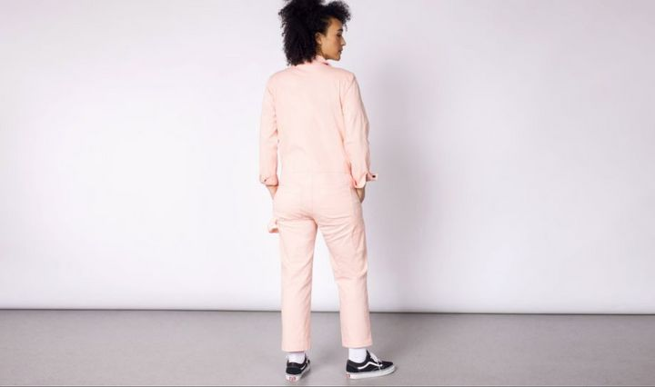 12688ff4bd4 Here s Where To Buy The Millennial Pink Glossier Jumpsuit