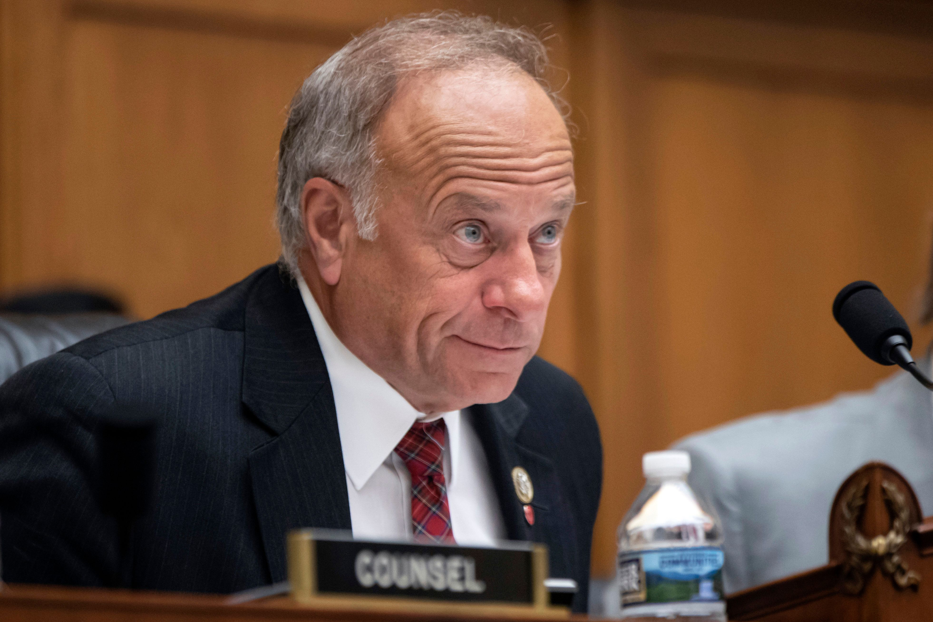 FILE - In this June 8, 2018, file photo, Rep. Steve King, R-Iowa, at a hearing on Capitol Hill in Washington. King is coming under fire ahead of the midterm election as top Republican officials and campaign donors balk at standing with a Republican congressman who regularly espouses extreme views on race and immigration. (AP Photo/J. Scott Applewhite, File)