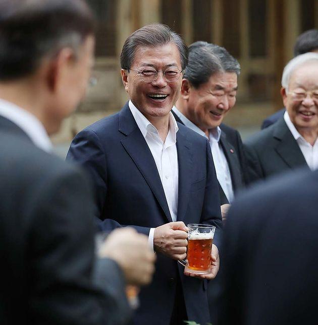 문재인 대통령과 기업인들의 타운홀 미팅이