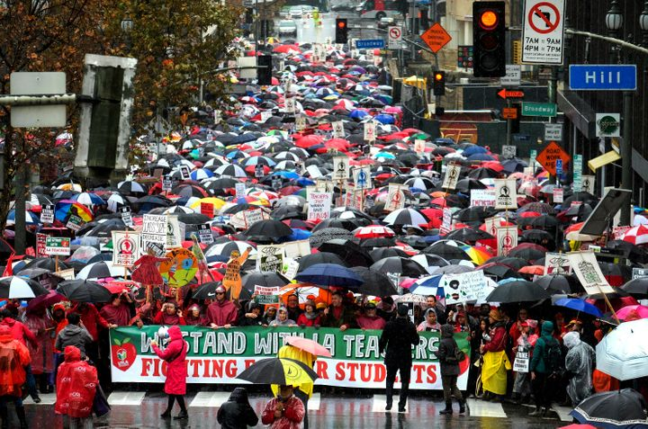 Union leaders have framed the strike as a fight for the future of public education. But for teachers, it's about gettin