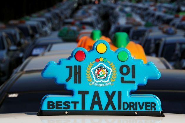 2018년 12월 20일 카풀 서비스에 반대하는 택시 기사 수백명이 집회를 연