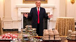 'Photoshop Battle' Breaks Out Over Donald Trump's Fast-Food Banquet For