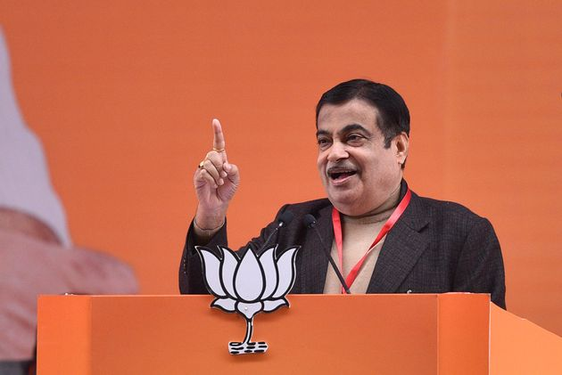 Nitin Gadkari at the BJP's National Executive meet in New Delhi last