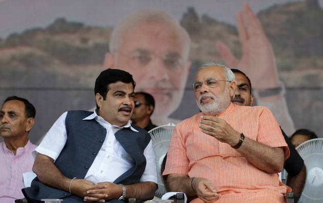 PM Modi with Nitin Gadkari in a file