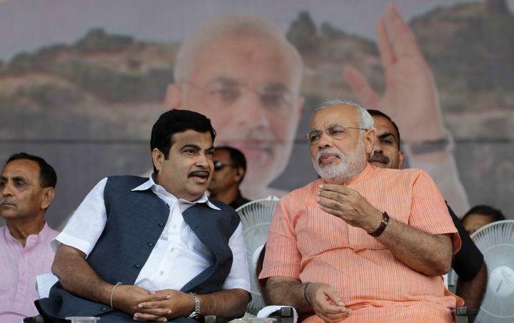 PM Modi with Nitin Gadkari in a file photo