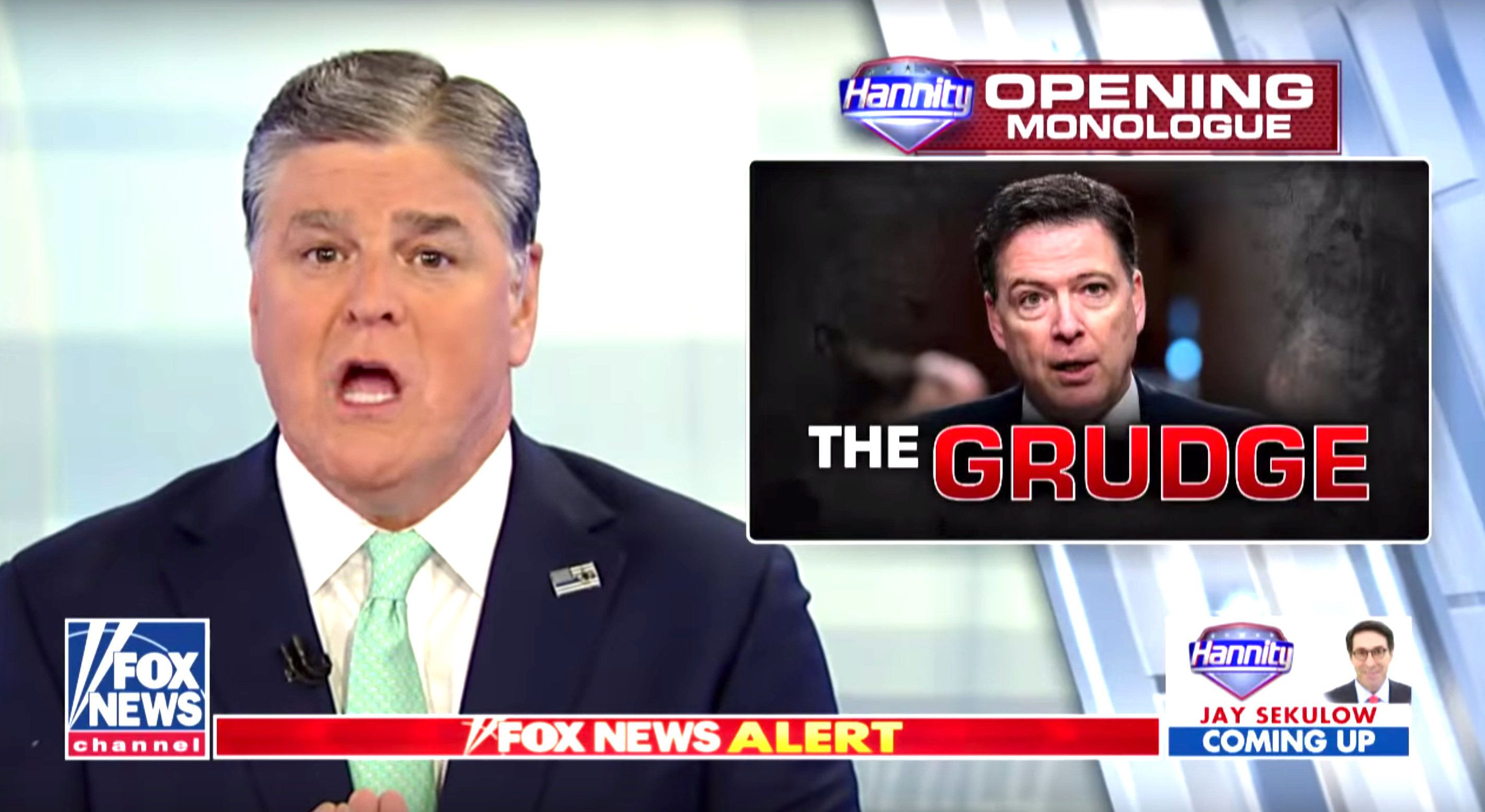 Following a New York Times report that the FBI questioned whether President Donald Trumpwas serving as a Russian agent, Fox News' Sean Hannity accused the agency of having hatched a nefarious plan to sabotage the commander in chief.