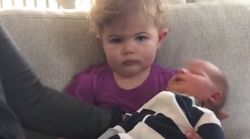 This Toddler's Reaction To Meeting Her Baby Brother Is