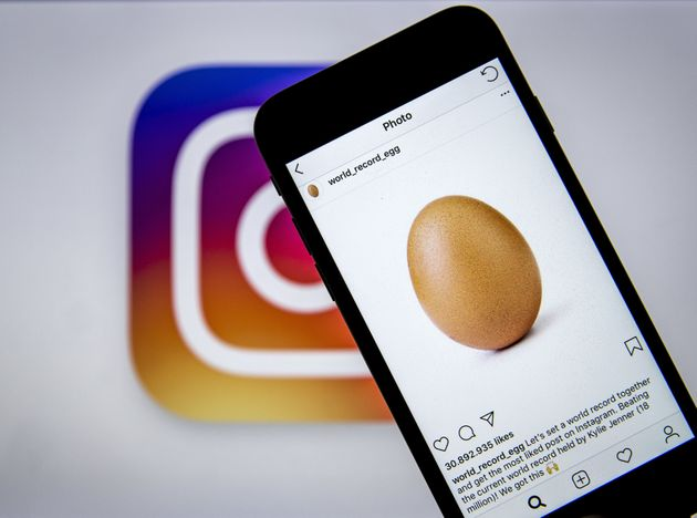 Instagram: Une photo d'œuf bat le record de