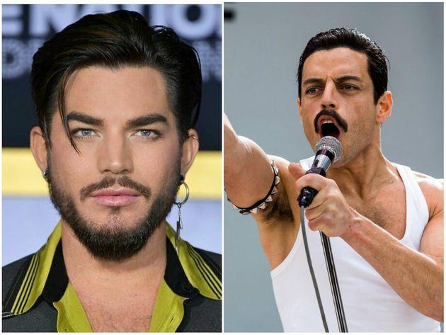 Adam Lambert, atual vocalista do Queen, eRami Male, que vive Freddie Mercury em 'Bohemian