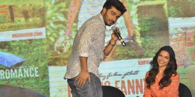 MUMBAI,INDIA AUGUST 22: Deepika Padukone and Arjun Kapoor at the launch of the second song, 'Shake Your...