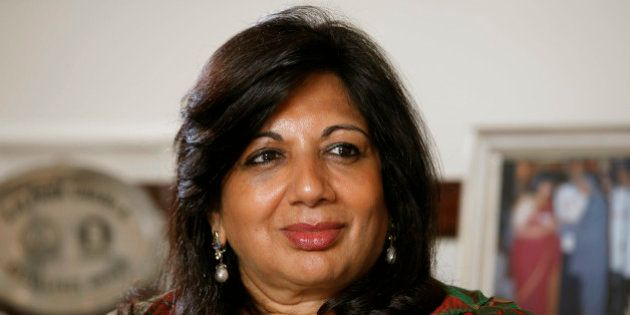 Kiran Mazumdar-Shaw, chairman and managing director of Biocon Ltd., pauses during an interview at the...