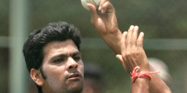 Indian bowler RP Singh delivers a ball during a practice session ahead of second One Day International...