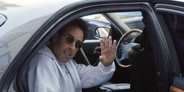 NEW YORK - NOVEMBER 21: ***EXCLUSIVE*** Jerry Seinfeld is seen in a car November 21, 2003 in New York...