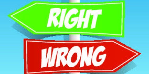 Signpost Green And Red on Blue Background vector