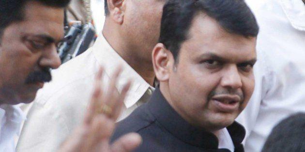 MUMBAI, INDIA - FEBRUARY 16: Maharashtra Chief Minister Devendra Fadnavis visits at Lilavati Hospital,...