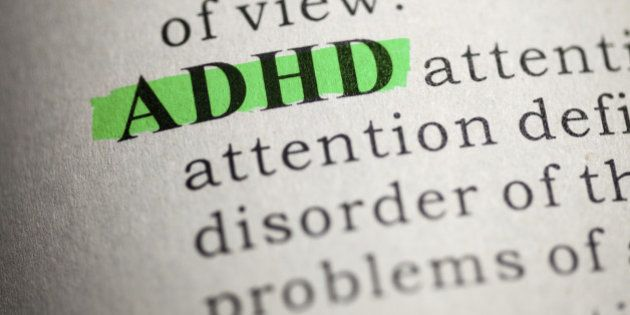 Fake Dictionary, Dictionary definition of the word ADHD. Attention deficit hyperactivity