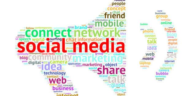 Social Media Word Cloud with Megaphone