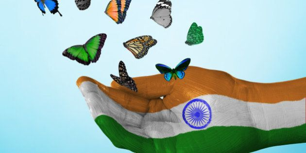 butterfly, country, flag, india, nation, tradition, culture, freedom, dream, hope, love, peace, equality,...