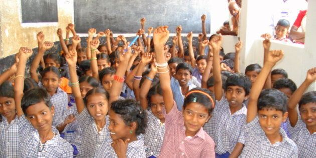 School children who sang the hygiene songs in Kollapatti school. This was captured on video as well.Kollapatti,...