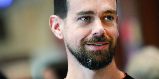 Jack Dorsey, chief executive officer of Square Inc., tours the floor of the New York Stock Exchange (NYSE)...