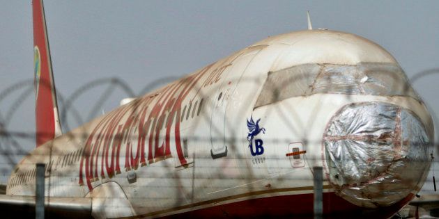 A Kingfisher Airlines aircraft stands parked on the tarmac of the Chatrapati Shivaji International Airport...