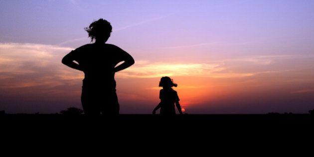 mother & daughter enjoying