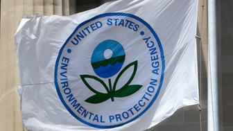 WASHINGTON, D.C. - APRIL 22, 2018:  A flag with the United States Environmental Protection Agency (EPA) logo flies at the agency's headquarters in Washington, D.C.  (Photo by Robert Alexander/Getty Images)