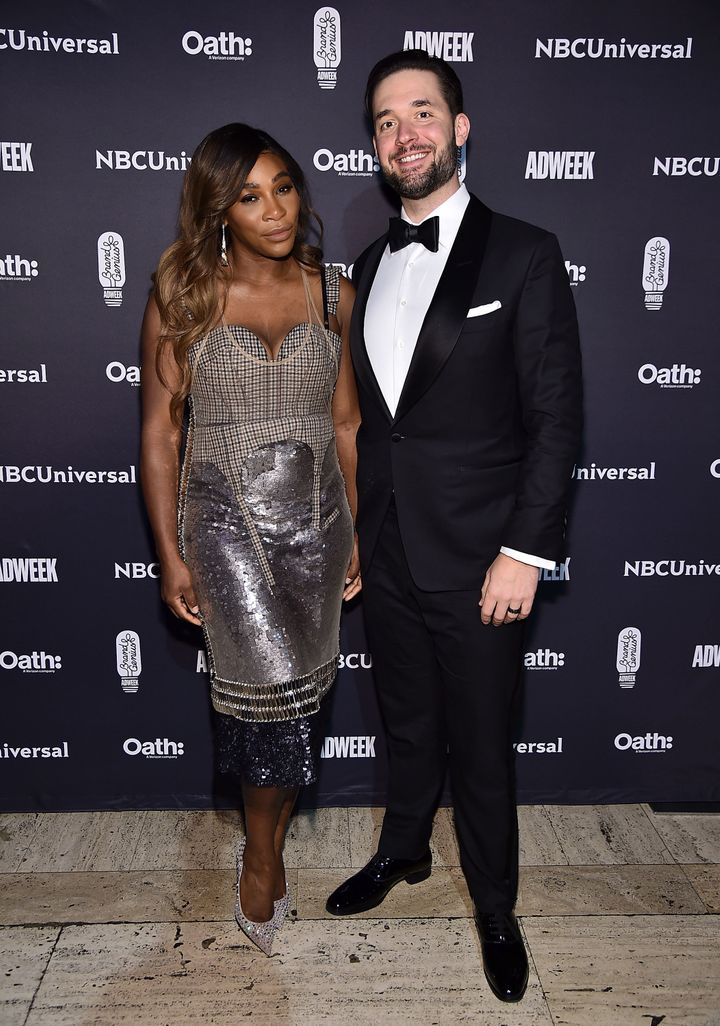 Serena Williams and Alexis Ohanian attend the 2018 Brand Genius Awards on Nov. 7, 2018 in New York City.