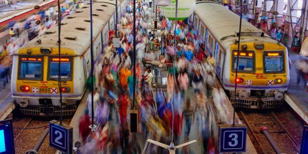 India, Maharashtra, Mumbai (Bombay), Victoria Terminus railways station or Chhatrapati