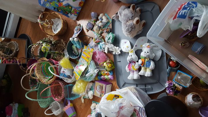 Seriously, nobody needs this many Easter baskets.