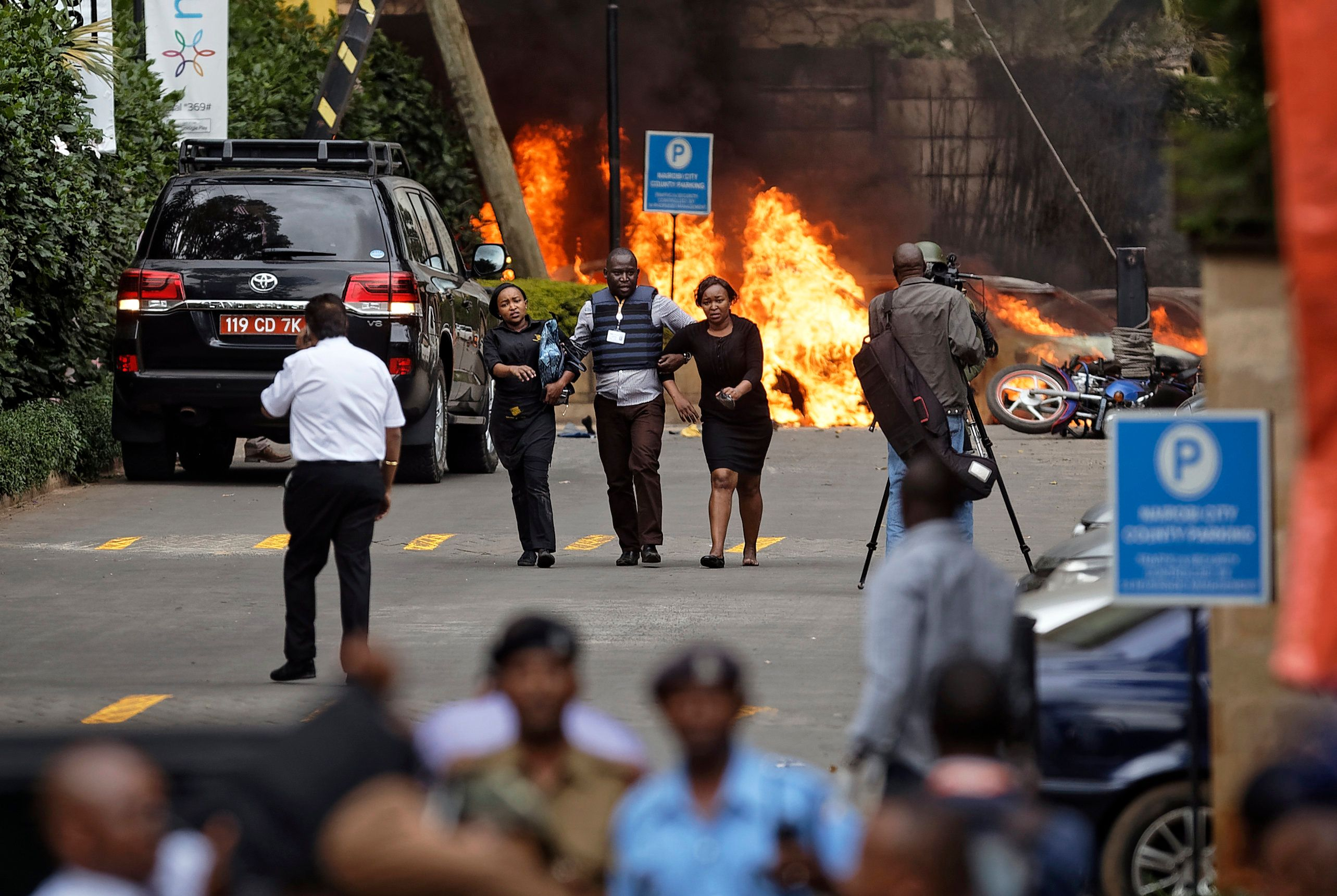 Explosion And Gunfire At Hotel In Nairobi,