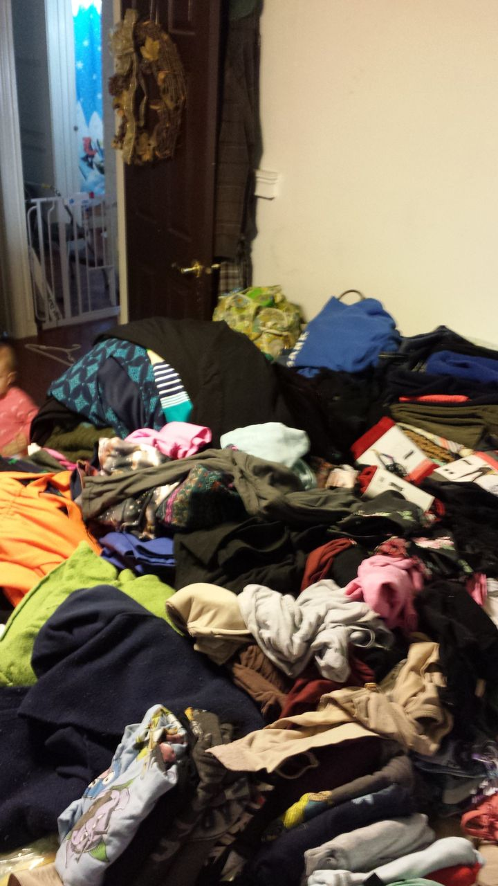 Clothing was the first category. Tossing it all up on my bed to go through it was overwhelming.