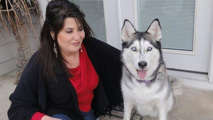 Democratic Rhode Island state Rep. Charlene Lima and her husky, Keiko. Lima has introduced a bill in the state legislature de