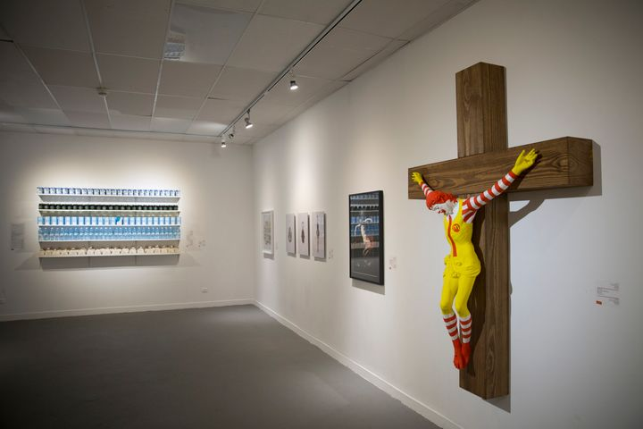 Hundreds of Christians calling for the sculpture's removal protested at the museum last week. (AP Photo/Oded Balilty)