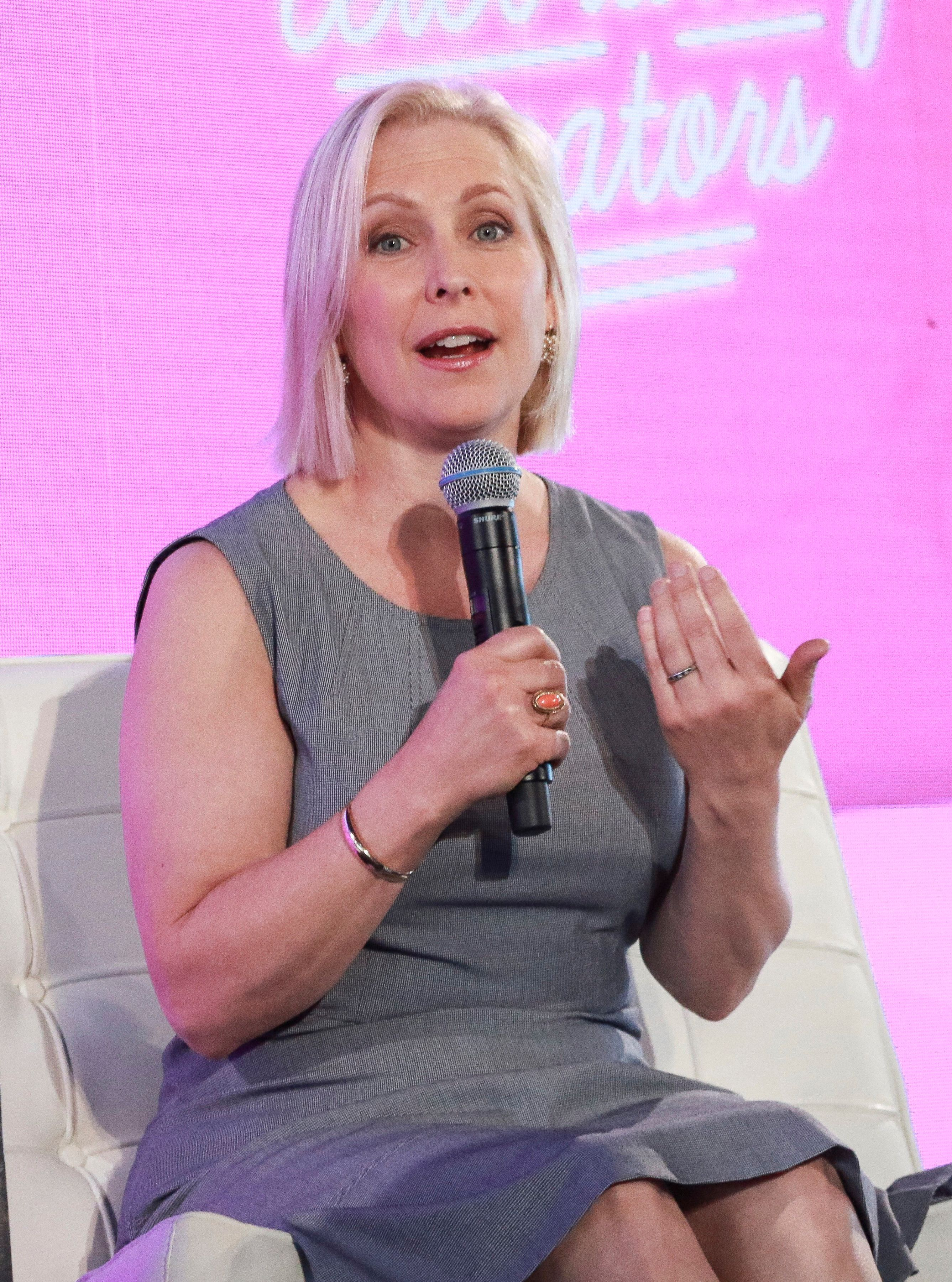 NEW YORK, NY - AUGUST 9: Senator Kirsten Gillibrand at the #WinningWomen discussion at #BlogHer18 Creators Summit in New York City on August 9, 2018. Credit: Diego Corredor/MediaPunch /IPX