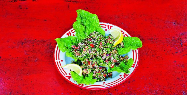 "Tabbouleh from <a href=""https://www.amazon.com/Olives-Lemons-Zaatar-Eastern-Cooking/dp/1906868840/ref=sr_1_1?s=books&ie=UTF8&qid=1548264108&sr=1-1&keywords=Olives%2C+Lemons+%26+Za%E2%80%99atar"" target=""_blank"" rel=""noopener noreferrer"">Olives, Lemons & Za'atar</a>"