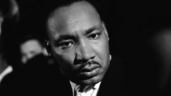 Close-up of American Civil Rights Leader Reverend Martin Luther King Jr. (1929 - 1968) as he attends a rally for Freedom Riders, Jackson, Mississippi, May 1961. The Freedom Riders rode buses throughout the southern United States in the months following the Boynton v. Virginia Supreme Court case, which essentially outlawed racial segregation on public transportation, in order to test and call attention to still existing local policies that ran contrary to national laws. (Photo by Paul Schutzer/The LIFE Picture Collection/Getty Images)