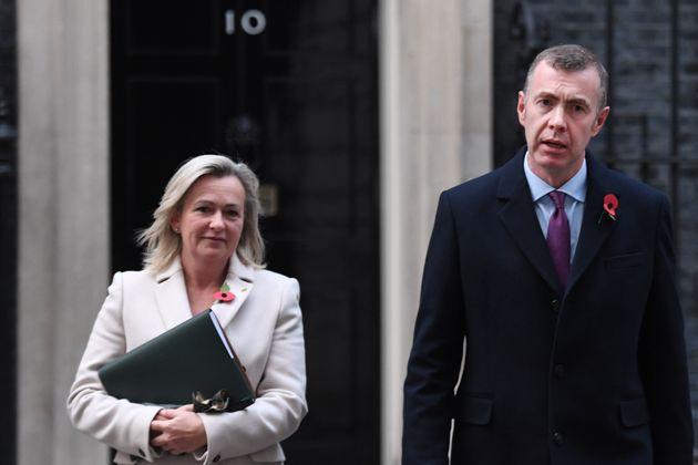 Plaid Cymru Westminster leader Liz Savile-Roberts and party leader Adam