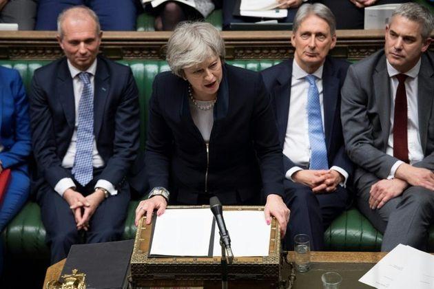 Theresa May, después de su derrota en la votación sobre el