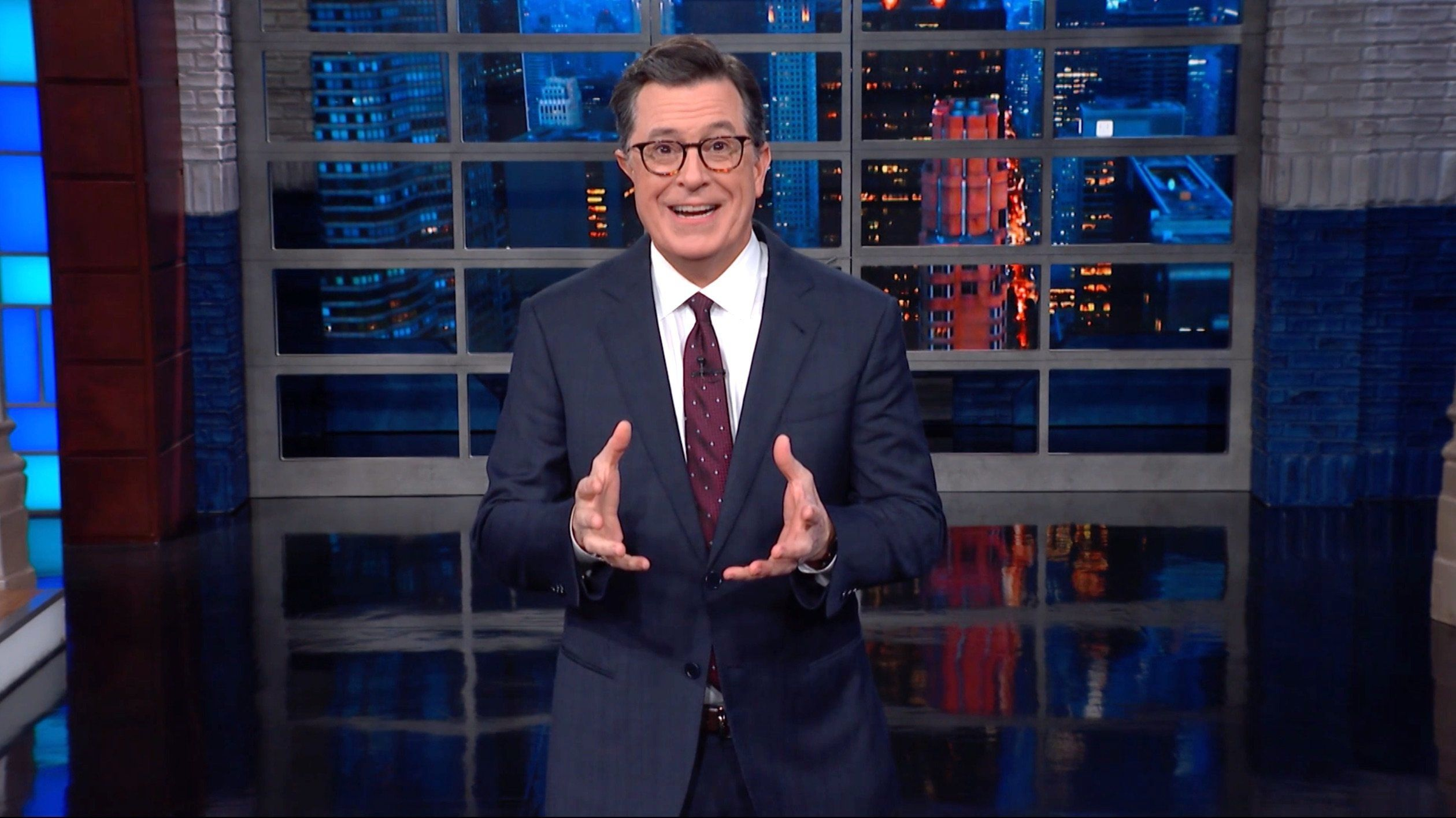 Stephen Colbert Reveals Just How Uncomfortably Close Trump Is To