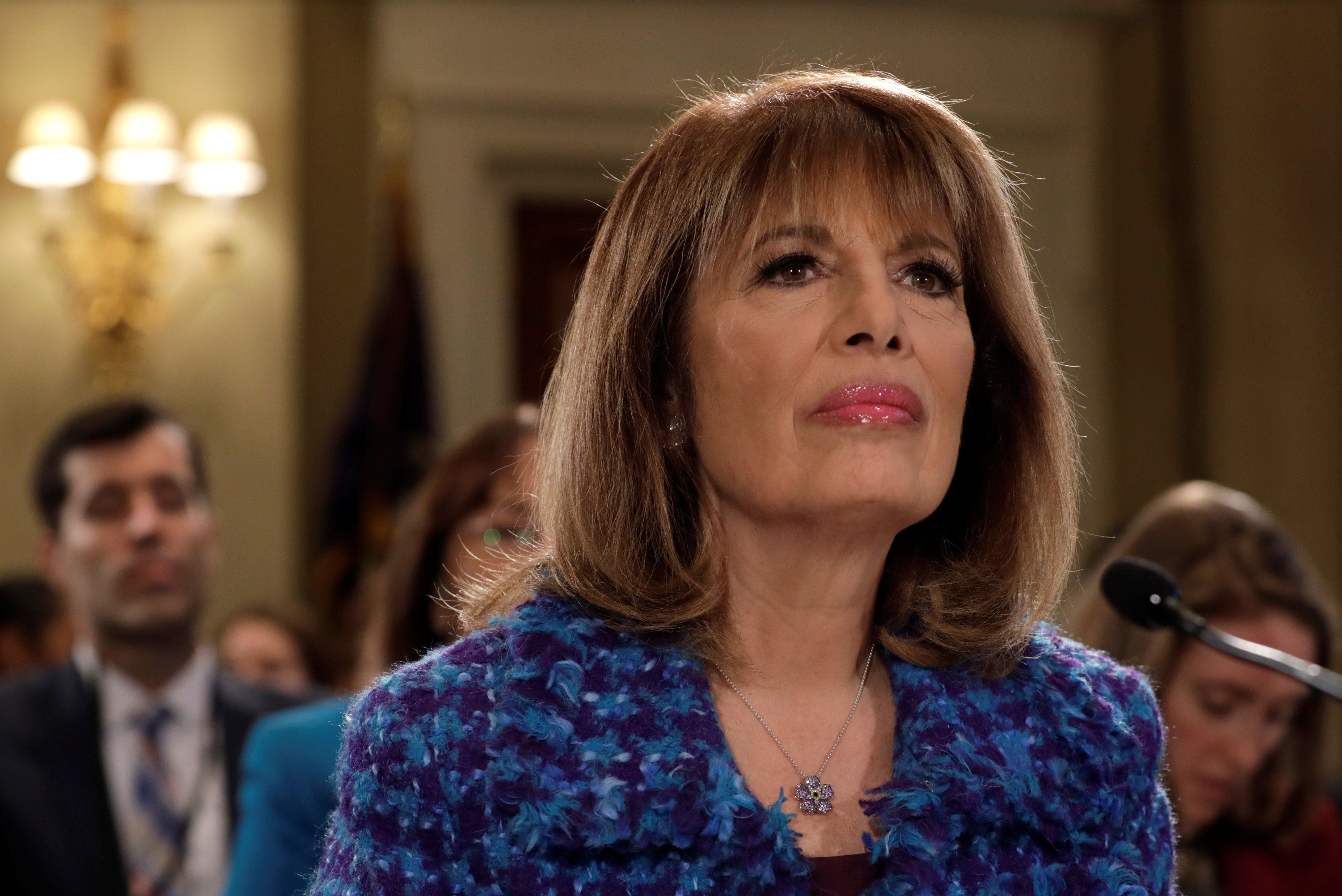 Rep. Jackie Speier (D-CA) waits to testify before a House Administration hearing on Preventing Sexual Harassment in the Congressional Workplace on Capitol Hill in Washington, U.S., November 14, 2017. REUTERS/Yuri Gripas