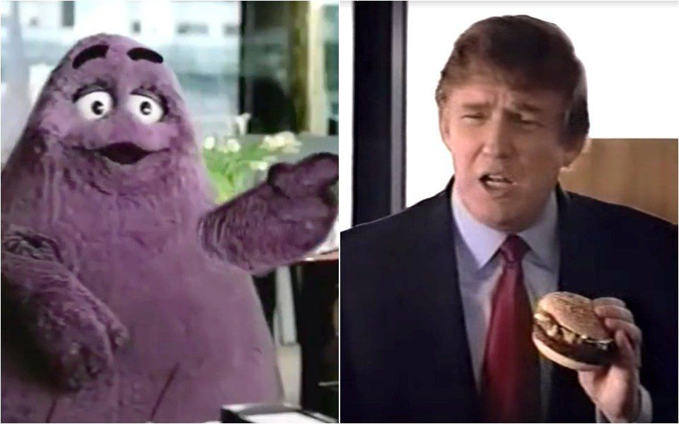 Grimace and Donald Trump