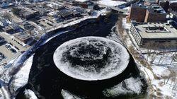 ΗΠΑ: Γιγαντιαίος δίσκος από πάγο σε ποταμό του