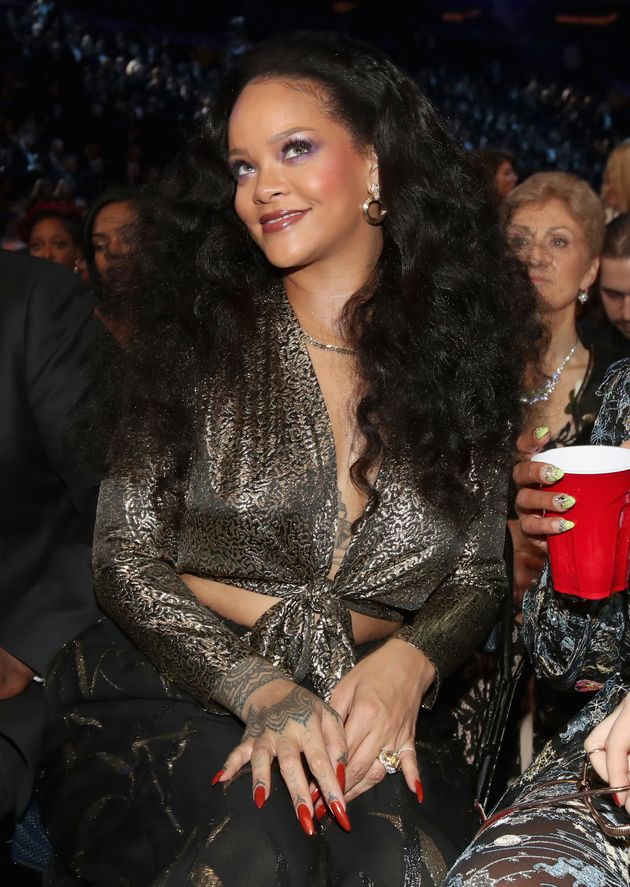 Rihanna at the Grammys in