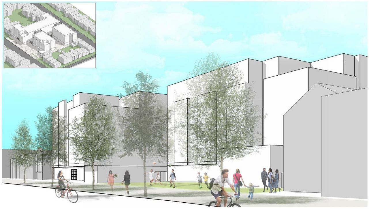 An artist's impression of the Francis Scott Key development in the Outer Sunset neighborhood of San Francisco.