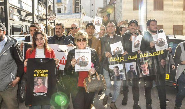 Rassemblement à la maison de la presse Tahar Djaout en solidarité avec Adlène